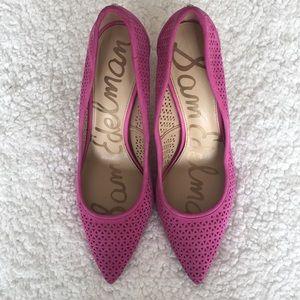 Pink Suede Leather Sam Edelman Heels